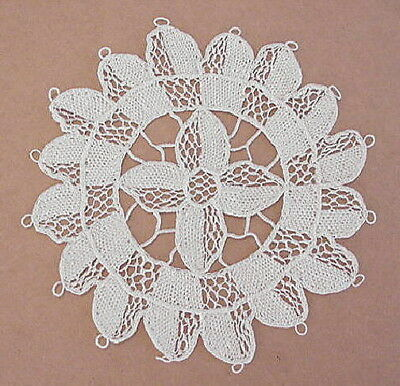 Set of 10 Vintage Venise Venice Lace Coasters Doilies
