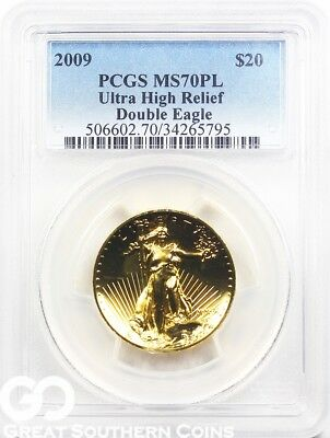 2009 Double Eagle $20 Ultra High Relief St. Gaudens PCGS MS 70 PL * Flawless!