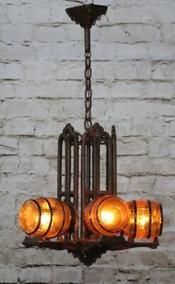 Antique Art Deco Slip Shade Chandelier Light Barrel Shades (multiple available)