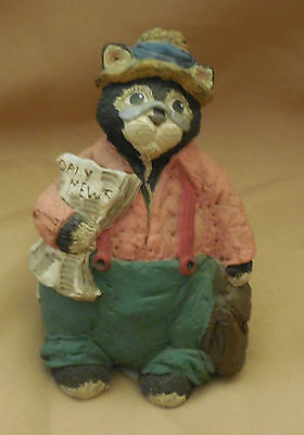 Adorable CONSTANCE A GUERRA Reporter CAT Kitty Kitten FIGURINE Signed Numbered