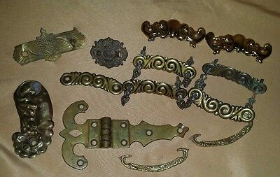 Antique VINTAGE Miscellaneous Metal HARDWARE Plate Handles SOLD AS IS!