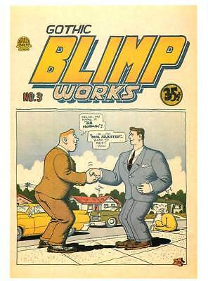 Postcard of R. Crumb Gothic Blimp Works #3 Comic Book Cover - Large Postcard