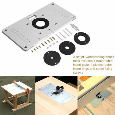 New aluminum router table insert plate w rings screws for new aluminum router table insert plate w rings screws for woodworking benches keyboard keysfo Gallery