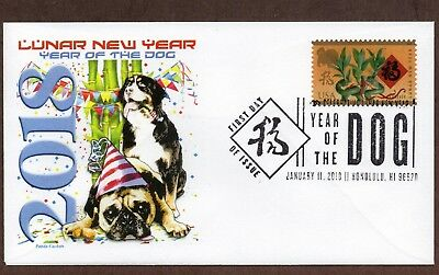 2018 Year Of The Dog ~ Panda Cachet - First Day Cover