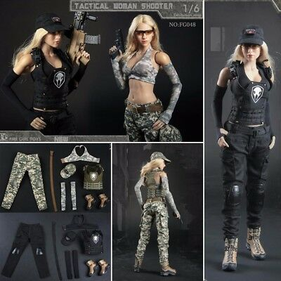 46be08ef8f7 1/6 Sexy Woman Soldiers Spy Combat Camouflage Clothes Set For 12'' Figure