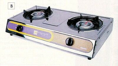 1 Set Propane Gas Stove 2 Burner Cookware Outdoor SLST002 NEW