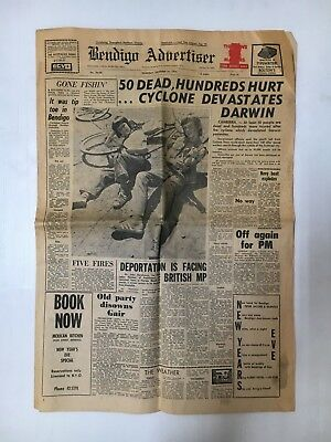 Bendigo Advertiser Newspaper From December 26Th 1974 Whole Paper, 12 Pages
