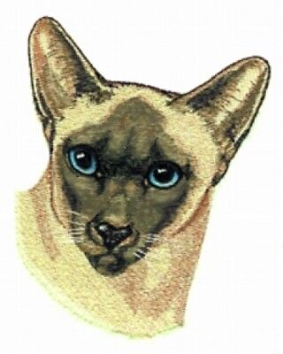 Large Embroidered Zippered Tote - Siamese Cat BT2519