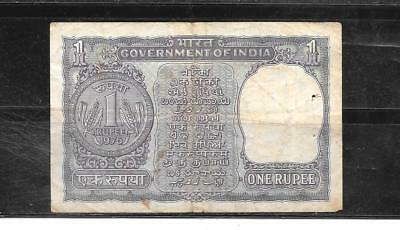 India #77T 1976 Vg Circ Old Rupee Banknote Paper Money Currency Bill Note