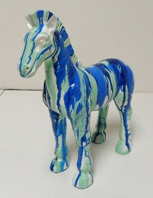 Beautiful Modern Solid Glazed Pottery Painted Horse
