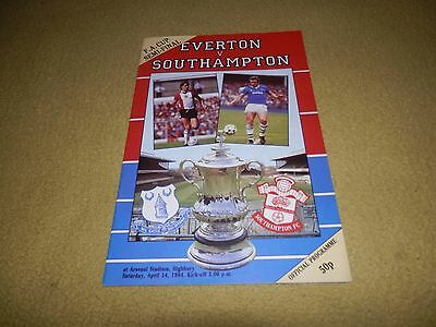 Everton v Southampton - FA Cup Semi-Final in 1984 at Highbury