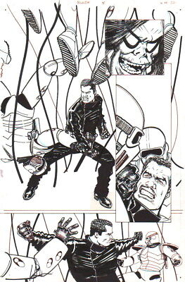 Howard Chaykin 2007 Blade Vs. Morbius & S.h.i.e.l.d. Original Art-Signed!