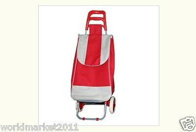 %H Collapsible Portable Red Climbing Stairs Car Shopping/Luggage Cart/Trolleys