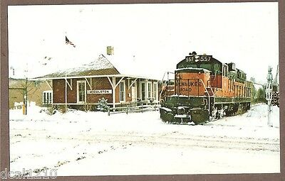 Vintage Railroad Postcard Unused Milwaukee Road 557 Locomotive 185