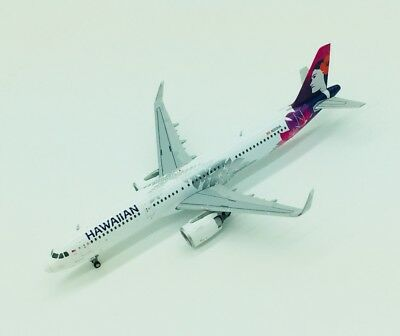 Gemini Jets 1/400 Hawaiian Airlines Airbus A321 neo New Livery N202HA miniature