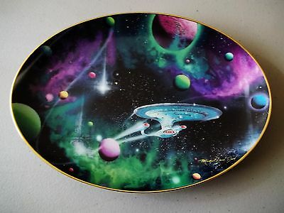 Rare Star Trek Oval Plate - Signs Of Intelligence - Very Low #0324A