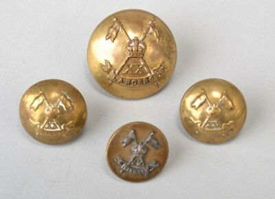 British Indian Army Cavalry Officer's XX 20th Lancers WW1 Uniform Buttons. DUH