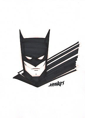 Anthony Marques SIGNED Original DC Comic Art Sketch ~ Batman the Dark Knight