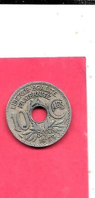 FRANCE FRENCH KM866a 1929 VF-VERY FINE-NICE OLD VINTAGE 10 CENTIMES COIN