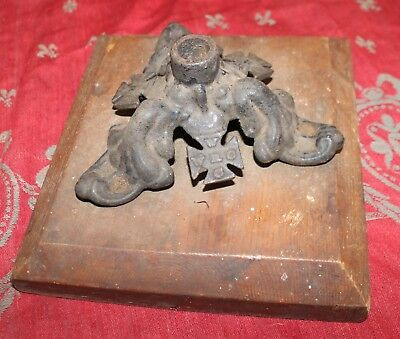 Antique Fraternal Masonic Oddfellows Cast Iron Flag Holder