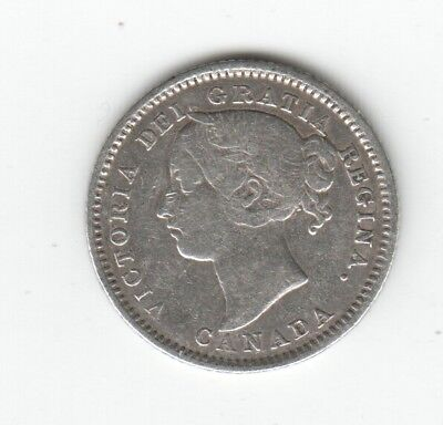 Canada 1889 Key Date Rare Silver Ten Cents. Auction Starts At £50
