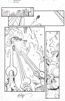 Dave Ross/ Bob Layton 2013 Iron Man Gets Shot Original Art!