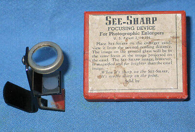 See-Sharp Focusing Device for Photographic Enlargers - In Box - FREE SHIPPING
