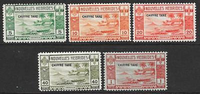 New Hebrides (French) 1938 Postage Dues Set (Mint)