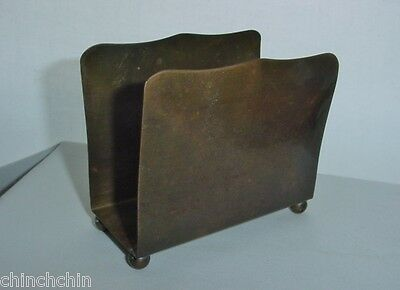 Awesome ARTS CRAFTS BRASS or BRONZE Mission LETTER HOLDER Early 1900s CURVACEOUS