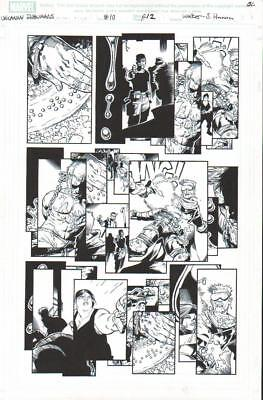 Reader In Trouble 2016 Inhumans Original Ink Art-Kev Walker/ Scott Hanna!
