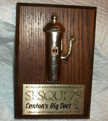 International Harvester Canton Il Plant Big Toot Plaque Whistle On Wood Sesqui75