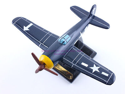 F6F-5 Hellcat USN Airplane Wood Display Model - New - FREE SHIPPING