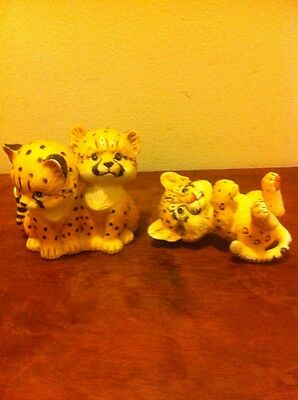 Bengal Tiger Figurine Endangered Young'Uns 3 Tigers Morehead Enesco 1984 Cute