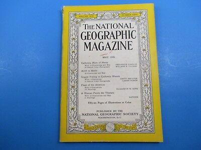 National Geographic Magazine May 1949 Goggle Fishing in California Waters