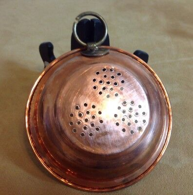 Vintage Copper Jello Mold, Wall Hanging Decor, Round Design, Holes, Round Hanger