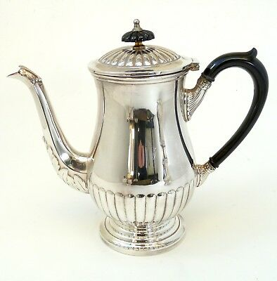 Silver Art Nouveau Style Teapot With Scroll Handle By Viners