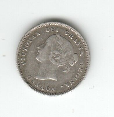 Canada Silver 1885 Cents. Auction Starts At £1