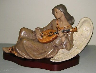 """Lladro Large Limited Edition 434/1000 Figurine 13570 """"ETHEREAL MUSIC"""" w/Base"""