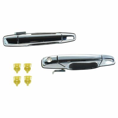 OEM Outside Exterior Door Handle Pair Set of 2 LH & RH Front Chrome for Chevy GM