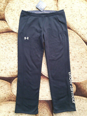 Under Armour Storm 1 Girls Black Sweatpants Fleece Long Pants Youth X-Large NWT