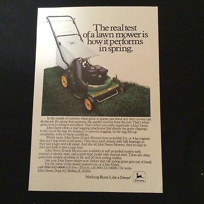 """1981 John Deere Print Ad -Power Drive 21"""" Lawnmower-With Rear Bagging Attach."""