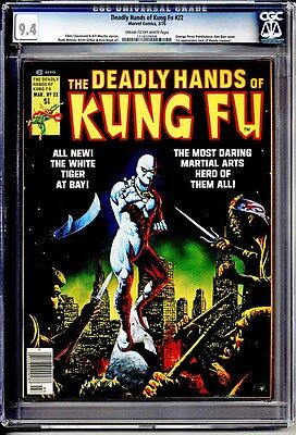 Deadly Hands Of Kung Fu #22 Cgc Nm 9.4 White Tiger 1St Jack Of Hearts