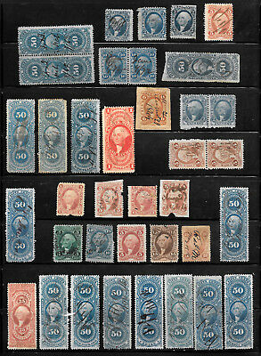 US BOB Revenue Stamps - PERF PART PERF IMPERF PAIRS BETTER!     MOST  DIFFERENT!