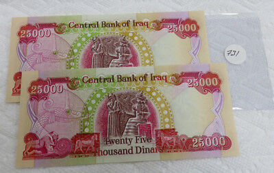 2- 25,000 Dinar Notes Central Bank of Iraq.