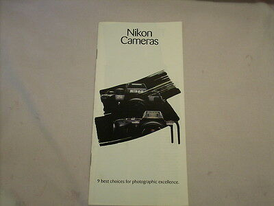 NIKON CAMERAS 12 PAGE 1989 BROCHURE-9 best choices for photographic excellence.