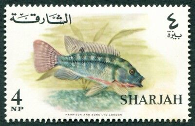 SHARJAH AND DEPENDENCIES 1966 4np SG209 mint MH FG Fish African Mouthbreeder a2