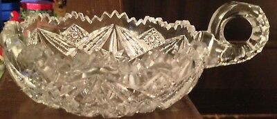 American Pressed Glass Vintage Antique Candy Dish with Handle