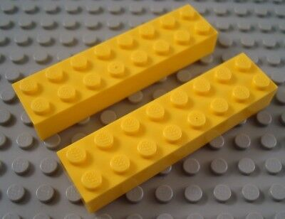 New LEGO Lot of 2 Yellow 2x8 Creator Classic Brick Pieces