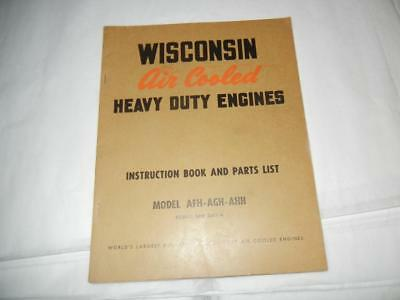 Vintage 1940's Wisconsin Air Cooled Engines Models Afh Agh Ahh Catalog
