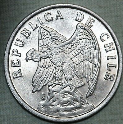 1975 Chile 1 Centavo ~ Condor ~Brillaint Uncirculated ~Combined S. & H.